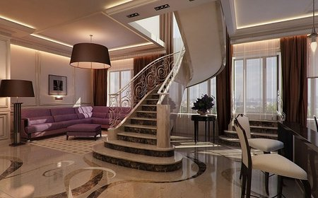 Дизайн двухуровневых квартир в Екатеринбурге