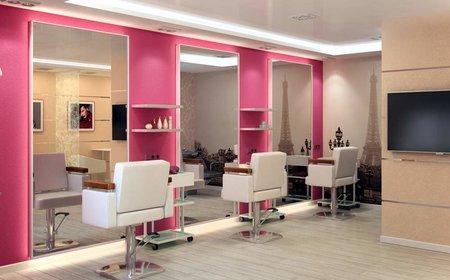 Внутренняя отделка парикмахерской