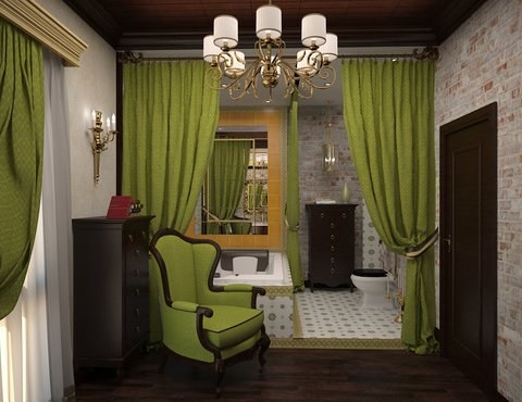 классика, интерьер спальни, дизайн-проект спальни, спальня классика, дизайн-проект коттеджа