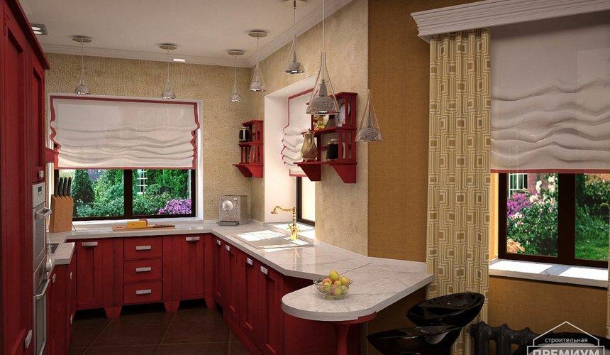 Дизайн интерьера первого этажа коттеджа Красное золото 11