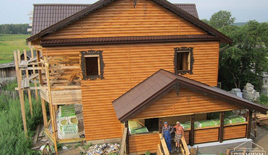Проектирование и строительство дома из бруса в д. Рябиновка 11