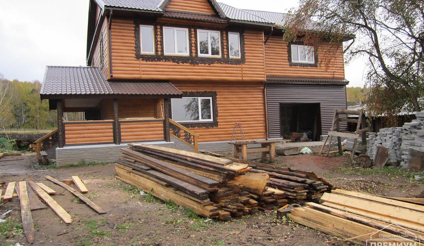 Проектирование и строительство дома из бруса в д. Рябиновка 35
