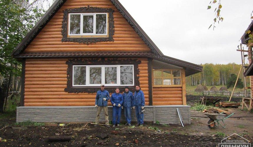 Проектирование и строительство дома из бруса в д. Рябиновка 45