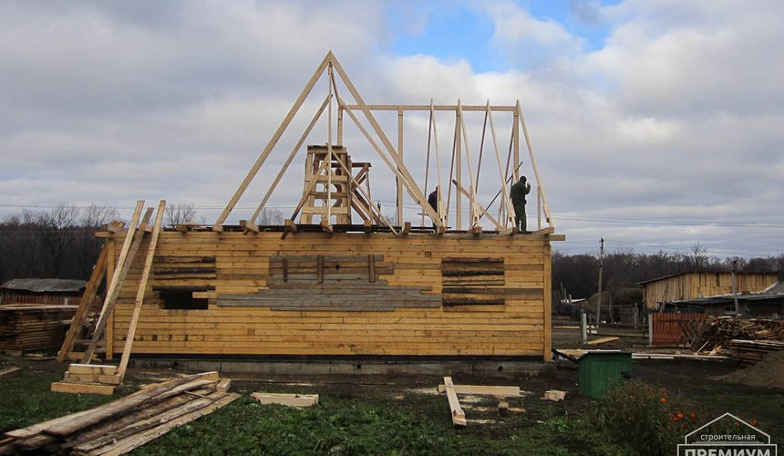 Строительство дома из бруса в д. Рябиновка 2 4
