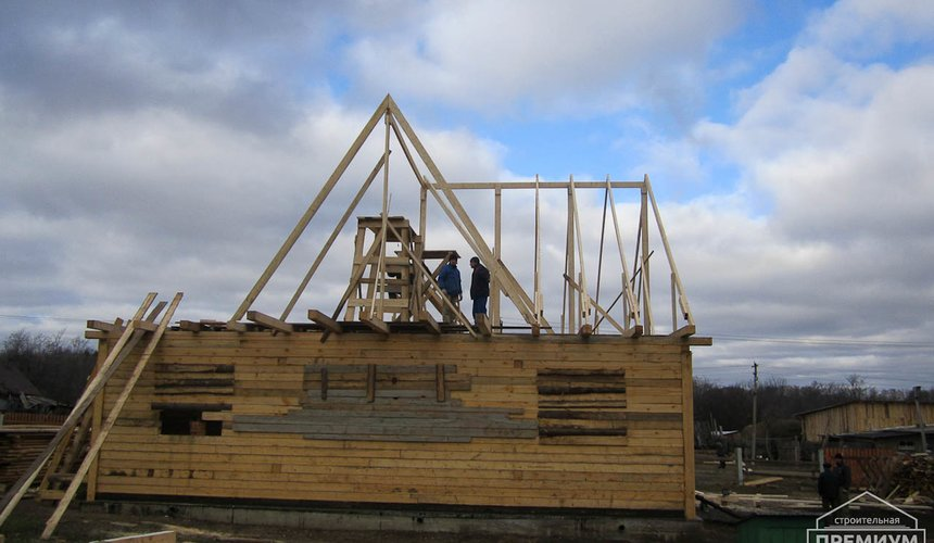 Строительство дома из бруса в д. Рябиновка 2 6