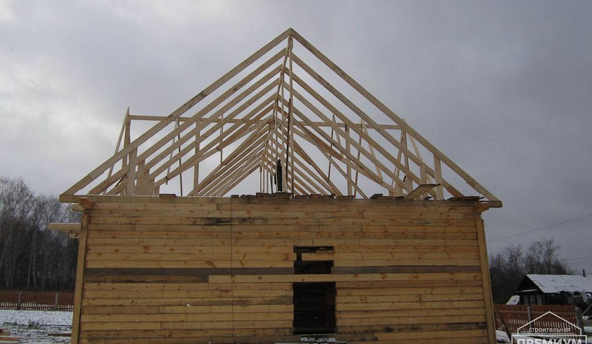 Строительство дома из бруса в д. Рябиновка 2 9