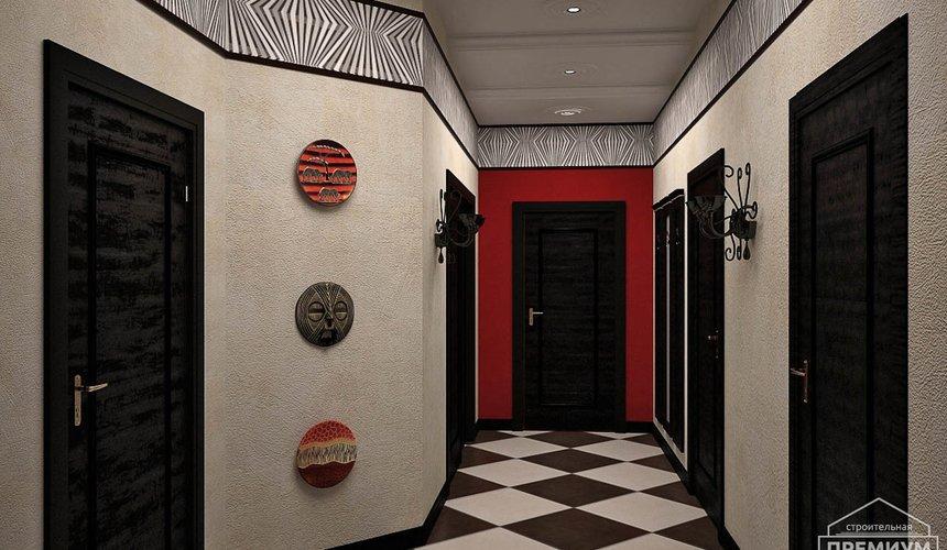 Дизайн интерьера первого этажа коттеджа Красное золото 18