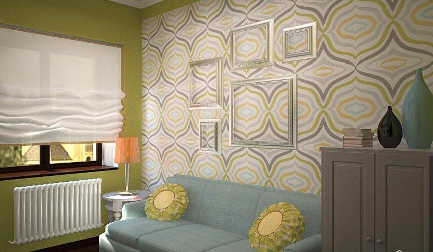 Дизайн интерьера первого этажа коттеджа Красное золото 21