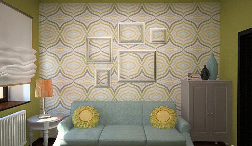 Дизайн интерьера первого этажа коттеджа Красное золото 23