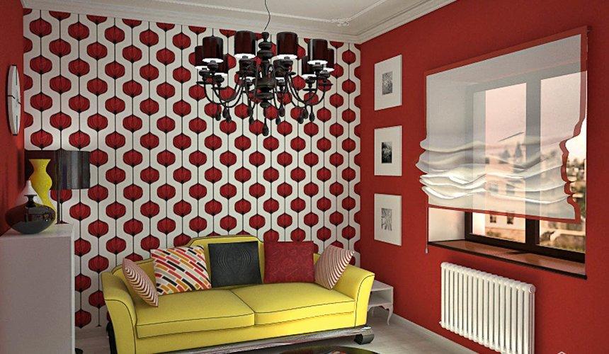 Дизайн интерьера первого этажа коттеджа Красное золото 24