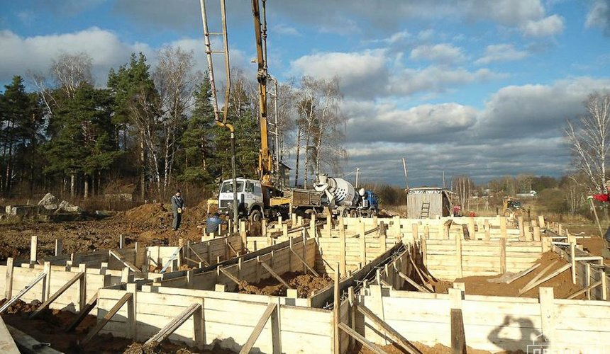 Строительство коттеджа из блоков в р-н Кольцово 2