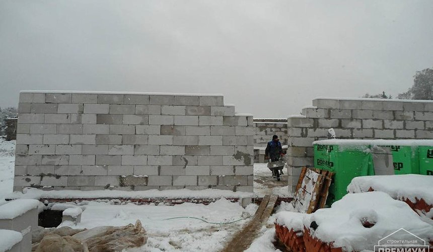 Строительство коттеджа из блоков в р-н Кольцово 8