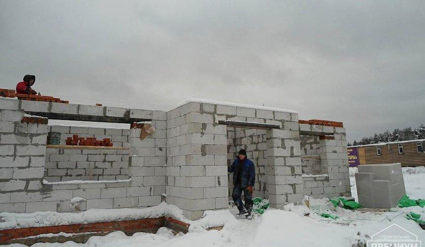 Строительство коттеджа из блоков в р-н Кольцово 15