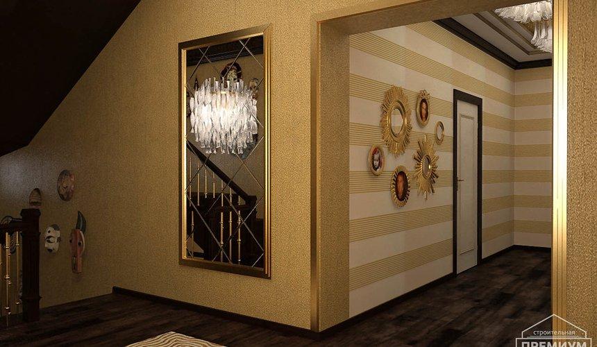 Дизайн интерьера второго этажа коттеджа Сахар 30
