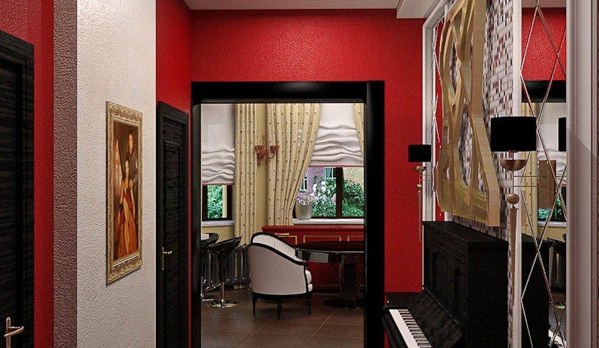 Дизайн интерьера первого этажа коттеджа Красное золото 8