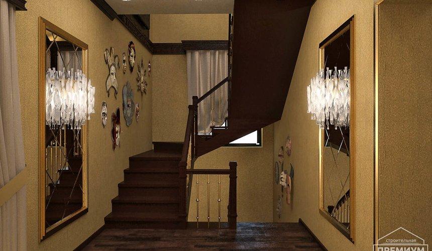 Дизайн интерьера второго этажа коттеджа Сахар 34