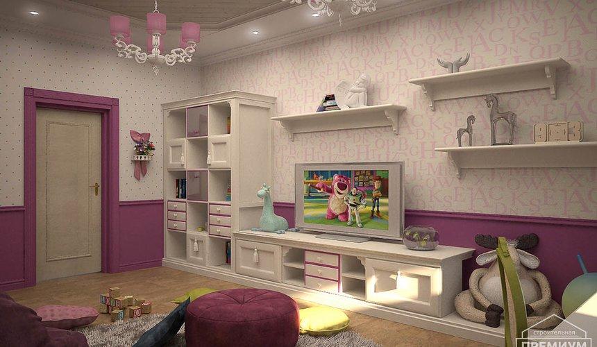 Дизайн интерьера второго этажа коттеджа Сахар 21