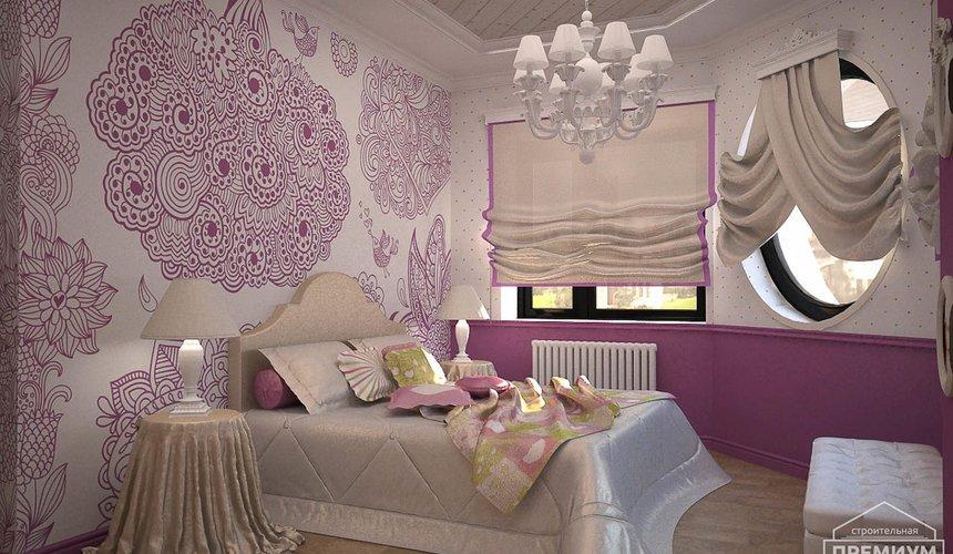 Дизайн интерьера второго этажа коттеджа Сахар 23