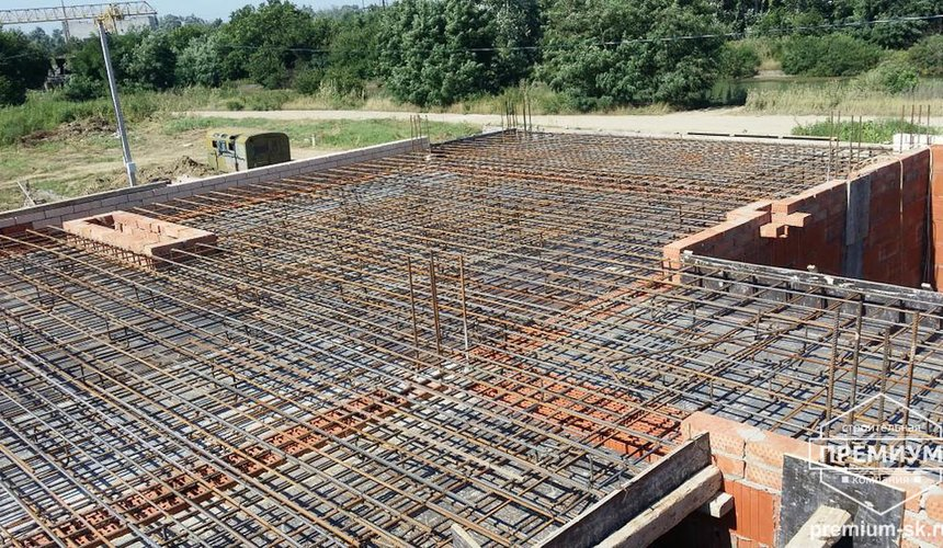 Строительство коттеджа из блоков в с. Патруши 15