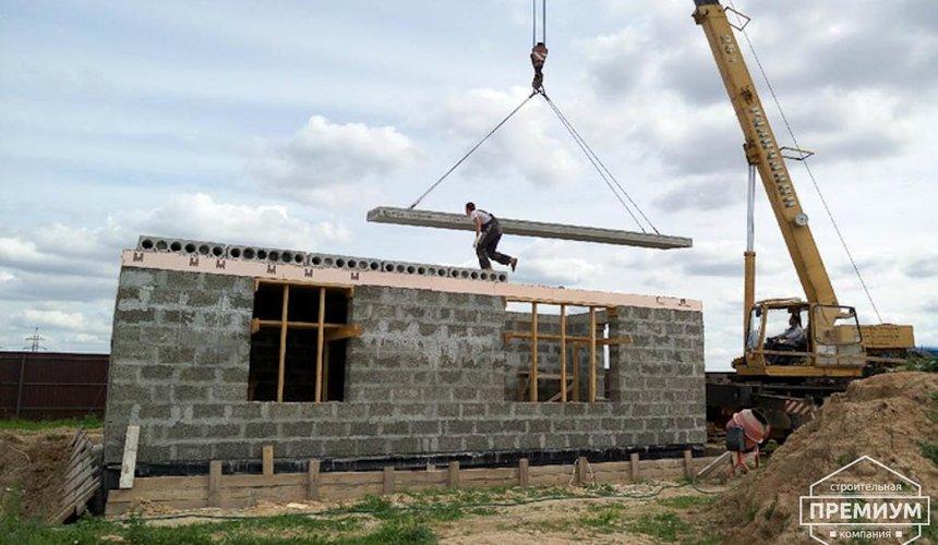 Строительство коттеджа из бризолита в Горном щите 11