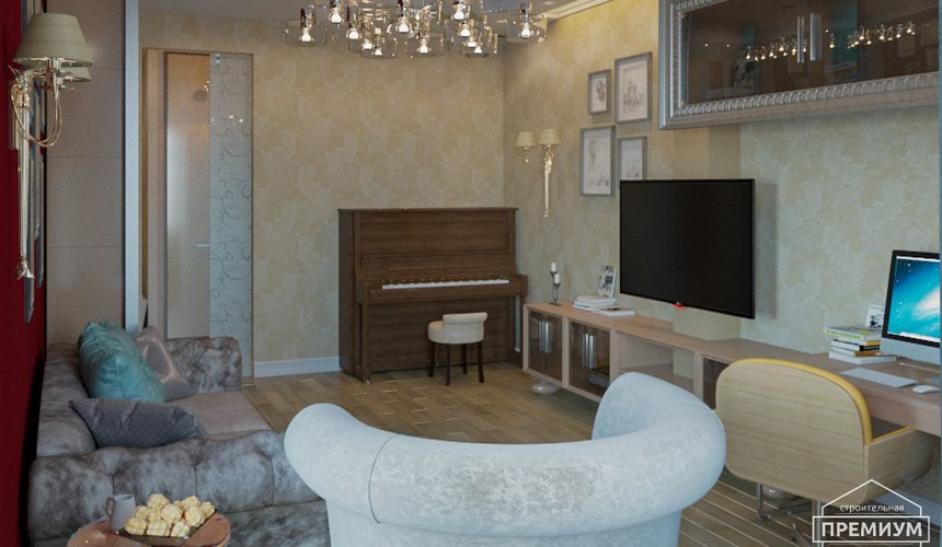 Ремонт и дизайн интерьера трехкомнатной квартиры по ул. Малогородская 4 41
