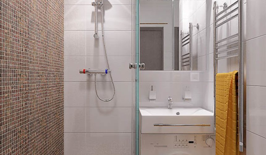 Ремонт и дизайн интерьера ванной по ул. Крауля 68 9
