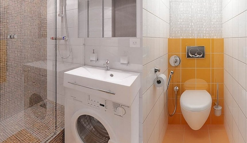 Ремонт и дизайн интерьера ванной по ул. Крауля 68 7