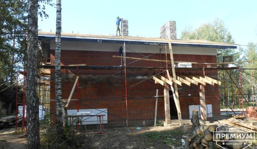 Строительство дома из кирпича в п.Сысерть 150