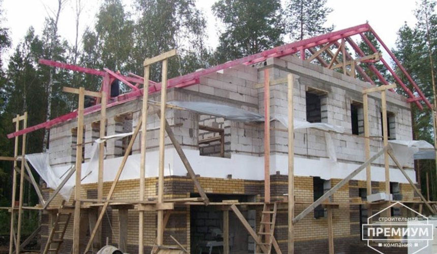 Проектирование и строительство дома из блоков в п.Верхняя Сысерть 2
