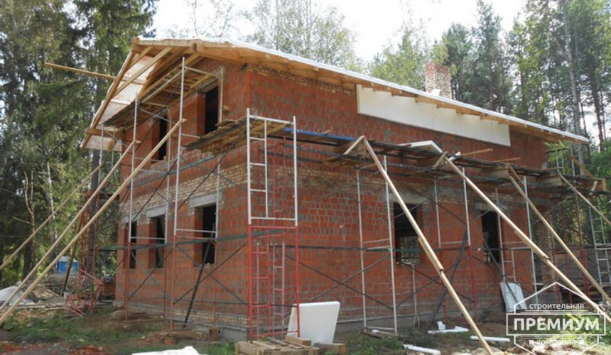 Строительство дома из кирпича в п.Сысерть 153