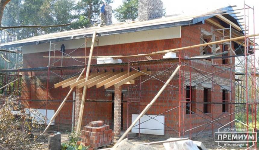 Строительство дома из кирпича в п.Сысерть 160
