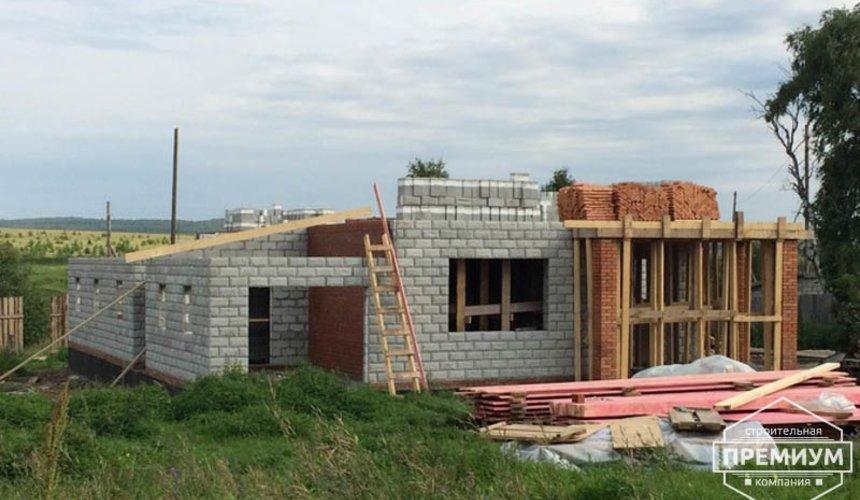Строительство дома из блоков в коттеджном посёлке Алые паруса 42