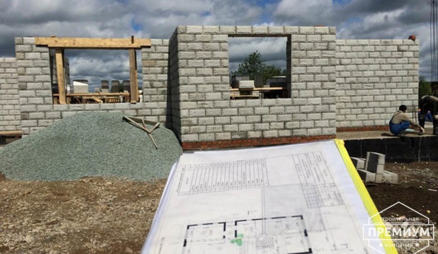 Строительство дома из блоков в коттеджном посёлке Алые паруса 44