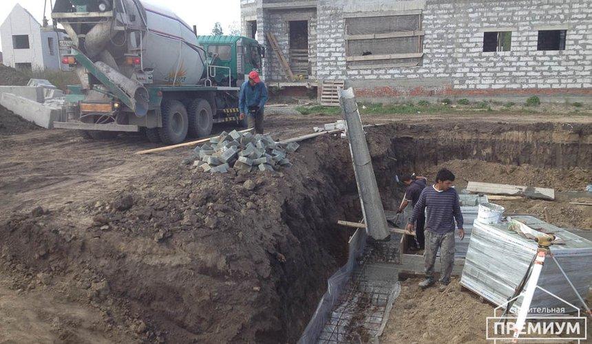 Строительство дома из блоков в с.Курганово 25