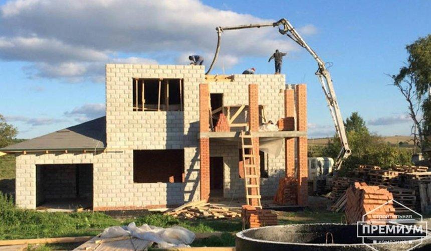 Строительство дома из блоков в коттеджном посёлке Алые паруса 55