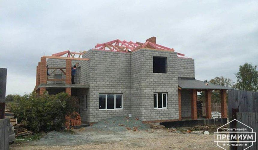 Строительство дома из блоков в коттеджном посёлке Алые паруса 58