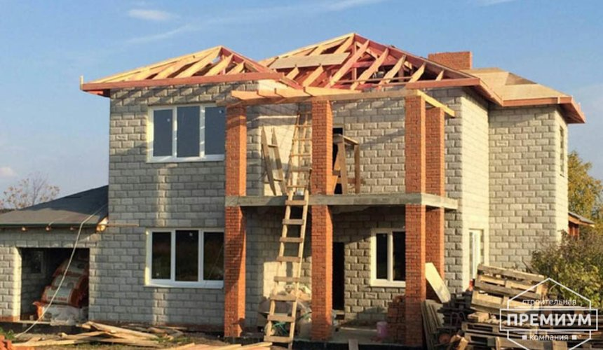 Строительство дома из блоков в коттеджном посёлке Алые паруса 65