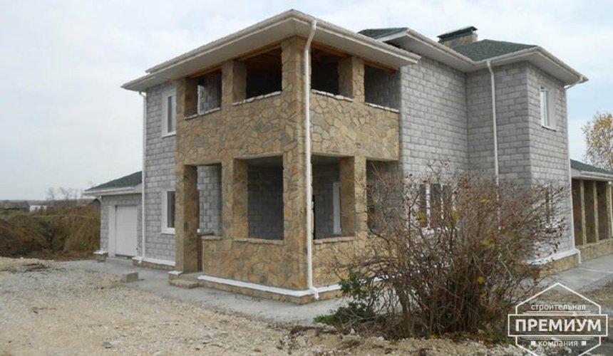 Строительство дома из блоков в коттеджном посёлке Алые паруса 3