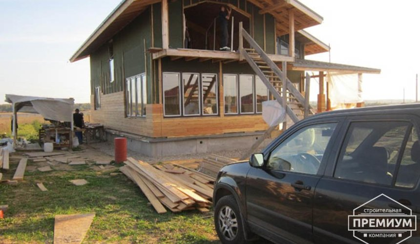 Строительство каркасного дома в коттеджном посёлке Александрия 3