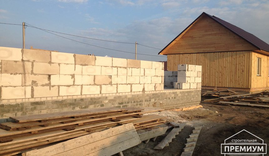 Строительство дома из блоков в с.Курганово 41