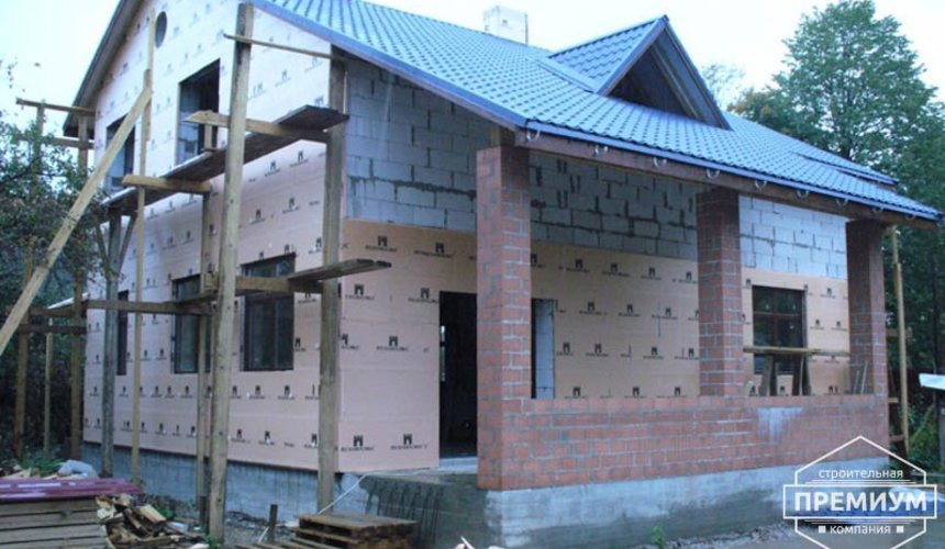 Проектирование и строительство дома из блоков в коттеджном посёлке Брусника 93