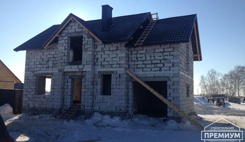 Строительство дома из блоков в с.Курганово 70
