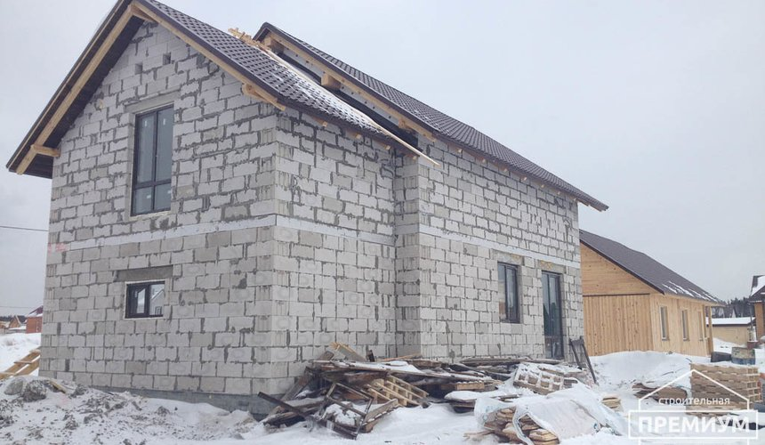 Строительство дома из блоков в с.Курганово 72