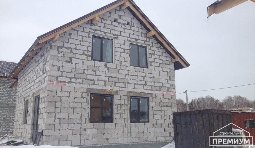 Строительство дома из блоков в с.Курганово 1