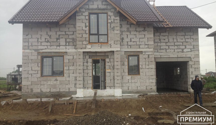 Строительство дома из блоков в с.Курганово 2