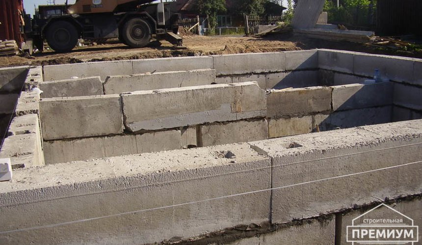 Строительство дома из блоков в коттеджном посёлке Александрия 22