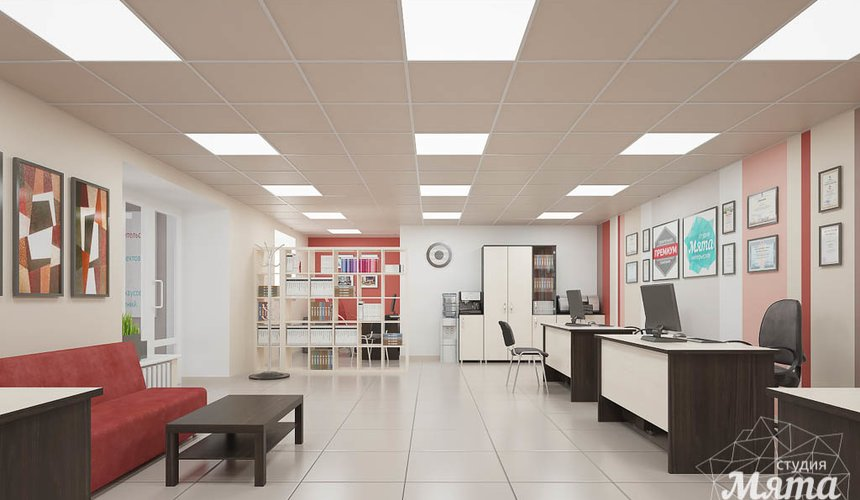 Ремонт и дизайн интерьера офиса по ул. Шаумяна 93 37