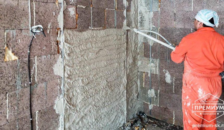 Механизированная штукатурка стен в коттедже 250 кв.м., п. Кашино 28