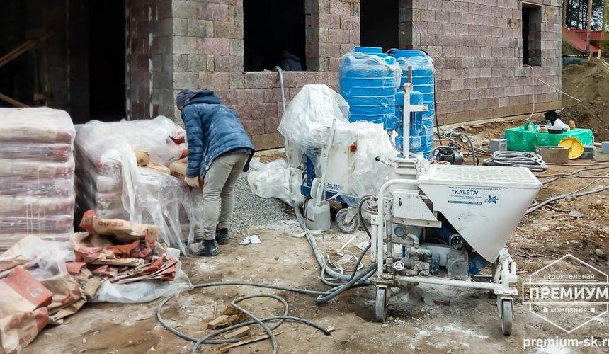 Механизированная штукатурка стен в коттедже 250 кв.м., п. Кашино 21