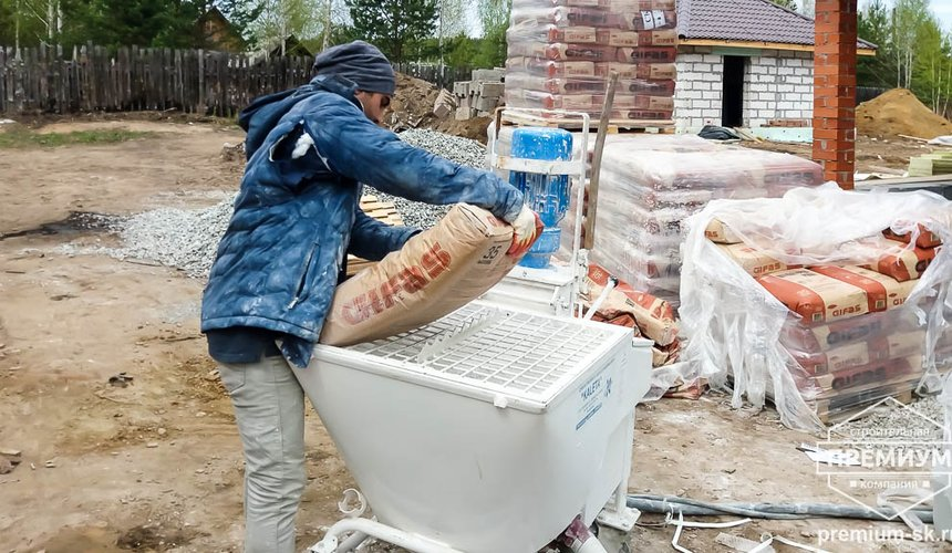 Механизированная штукатурка стен в коттедже 250 кв.м., п. Кашино 22